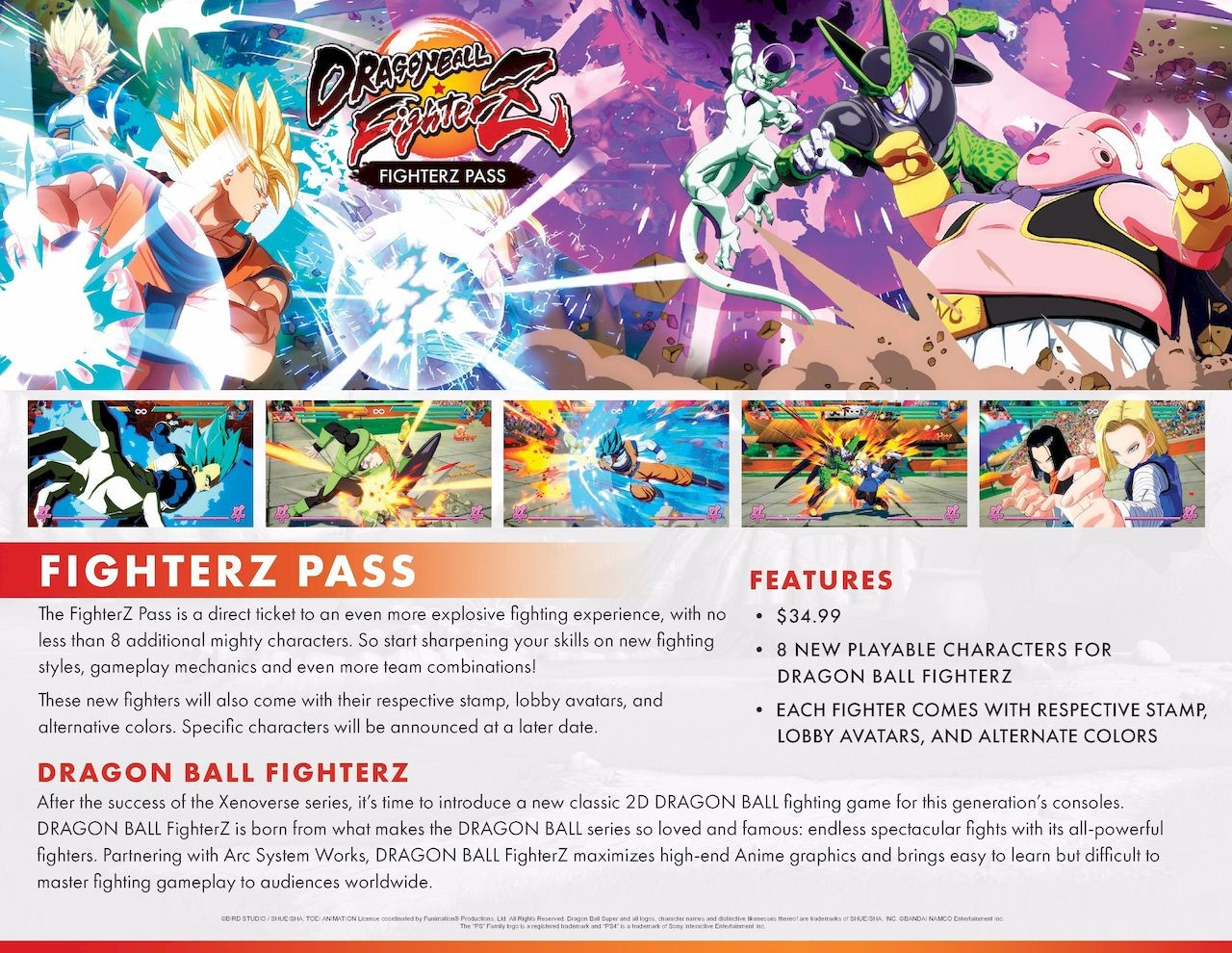 FighterZ Pass for Dragon Ball FighterZ