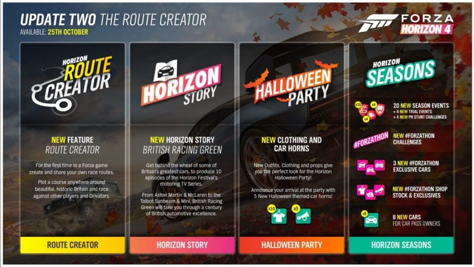 forza horizon 4 mise jour route creator et autres joyeuset s arrivent xbox one mag. Black Bedroom Furniture Sets. Home Design Ideas