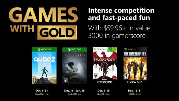 games with gold decembre 2018