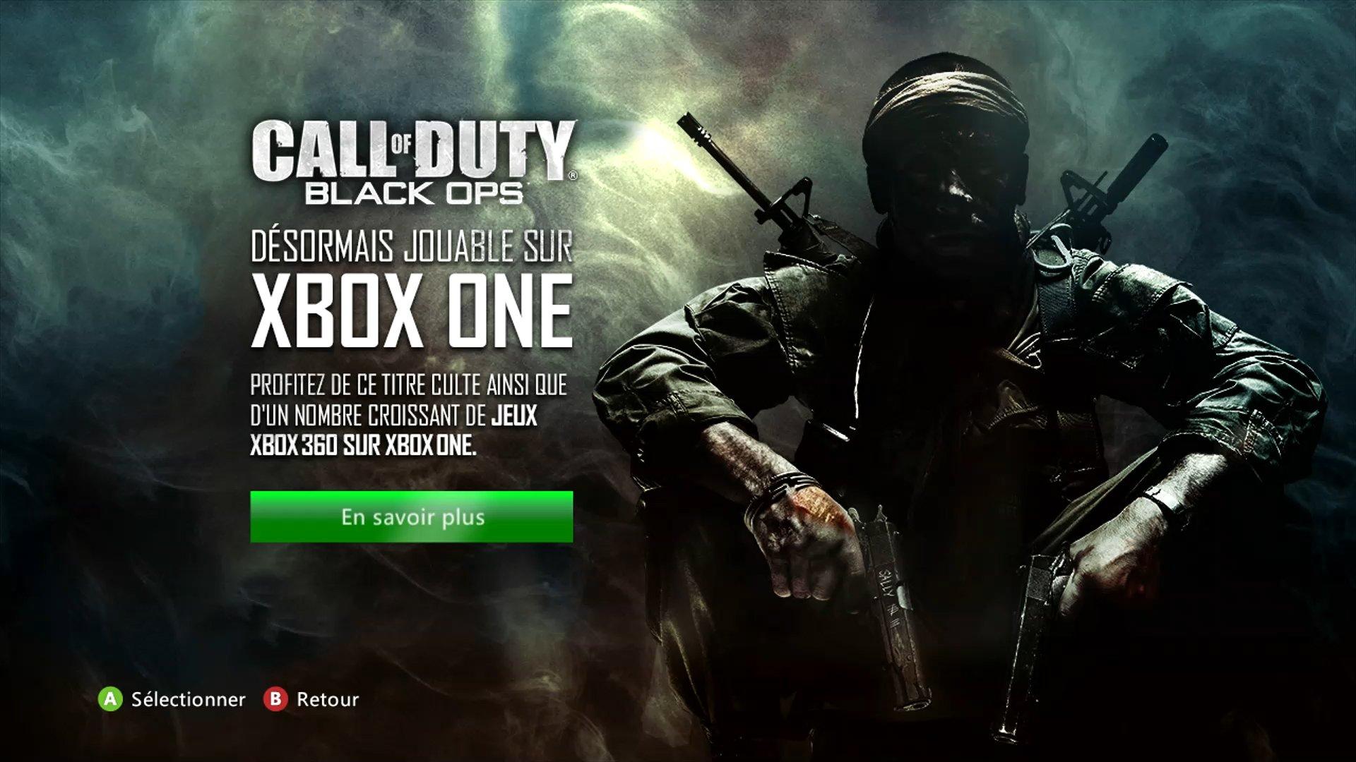 Xbox One Call Of Duty Black Ops 2 [MàJ] Rétroc...