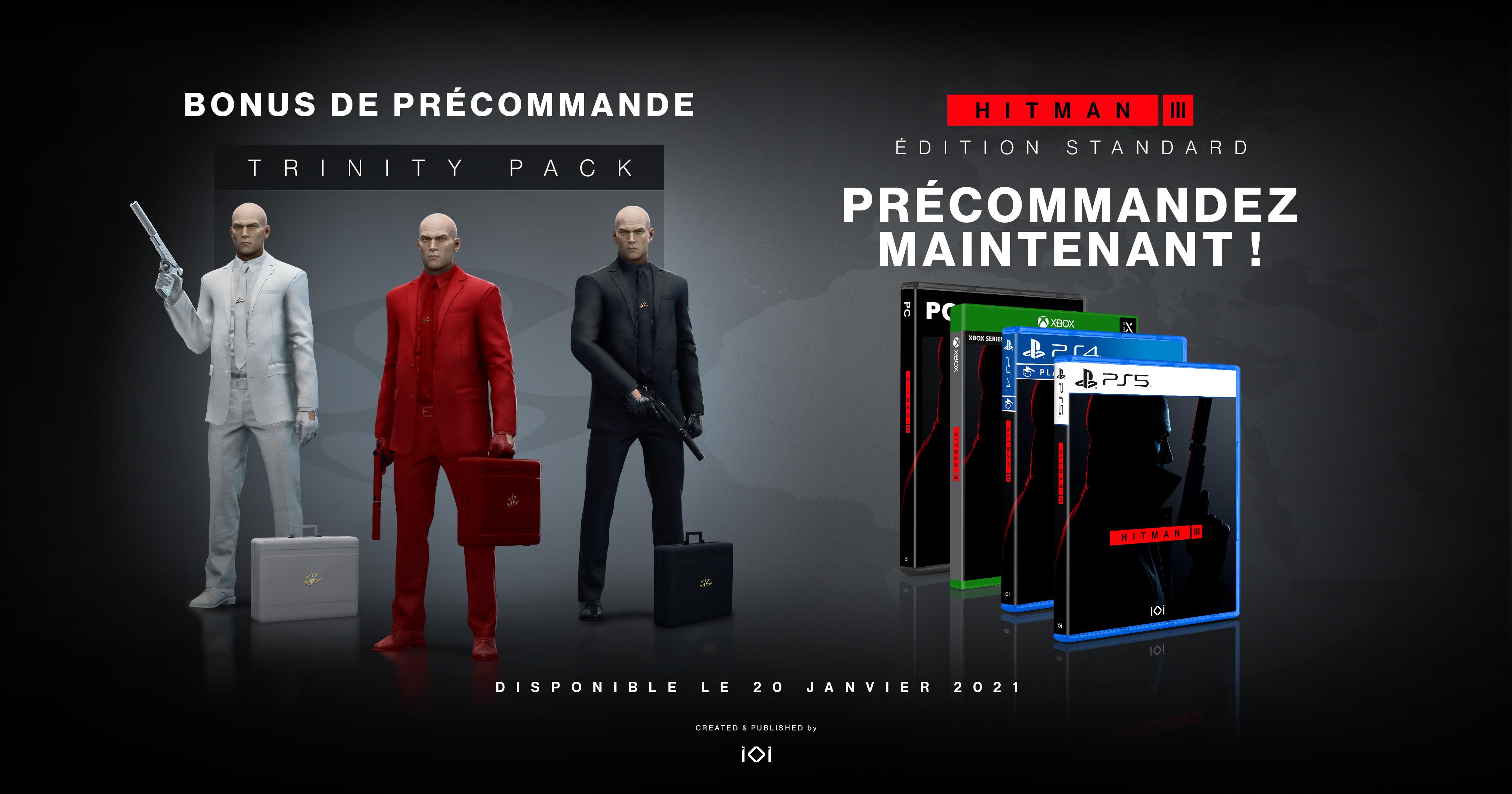 Hitman 3 : édition physique standard et Deluxe disponible le 21 janvier 2021, le pack « Trinité ...